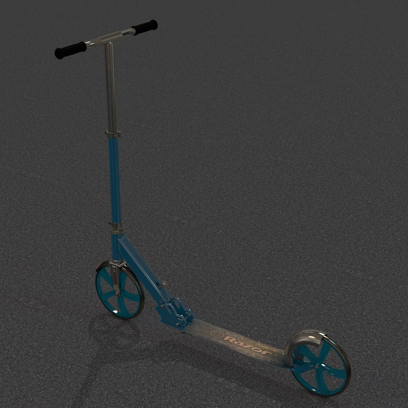 3D razor scooter a5 lux model