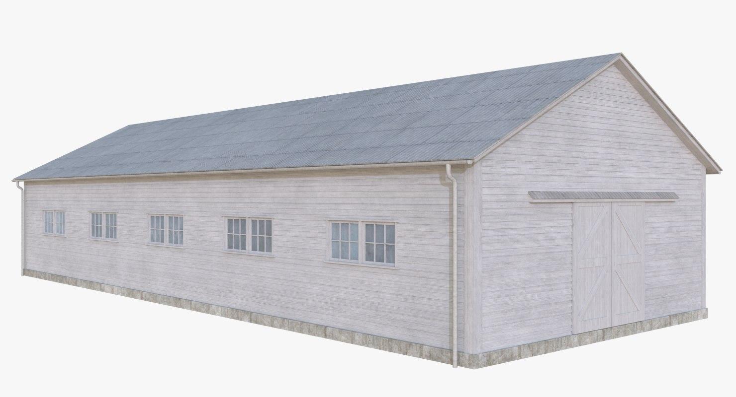wooden barn 1 3D model