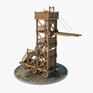 3D medieval siege tower