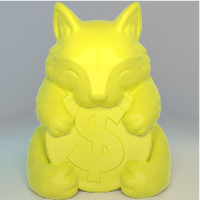 3D cute lucky cat home model