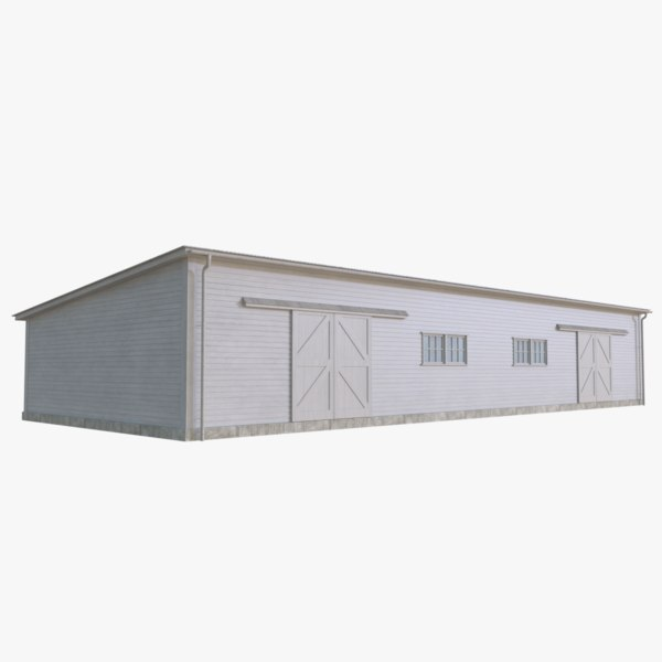 wooden barn 3D model
