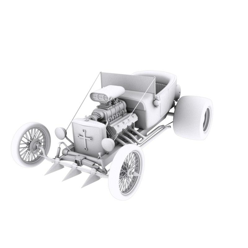 3D roadster brutal model