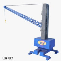 3D fixed container crane