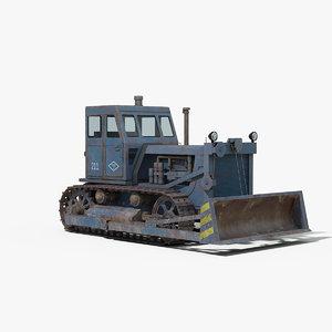 t100 bulldozer 3D model