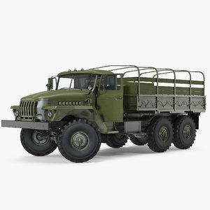 ural 4320 truck 6x6 3D