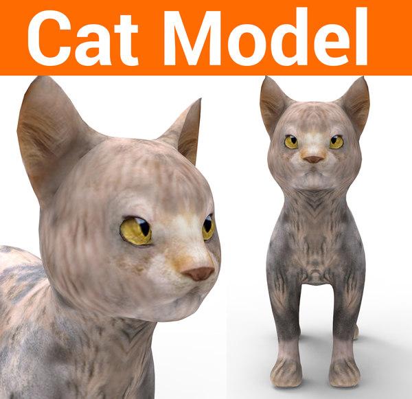 cute cat 3D model