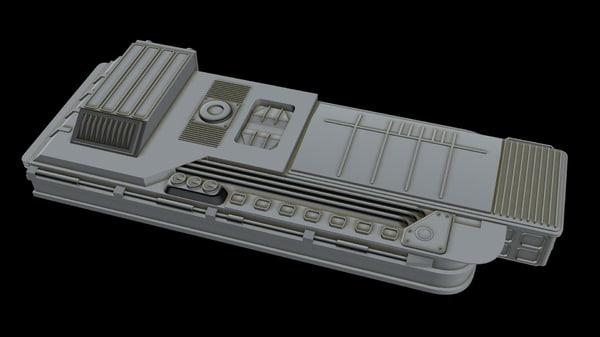 starship ship 3D model