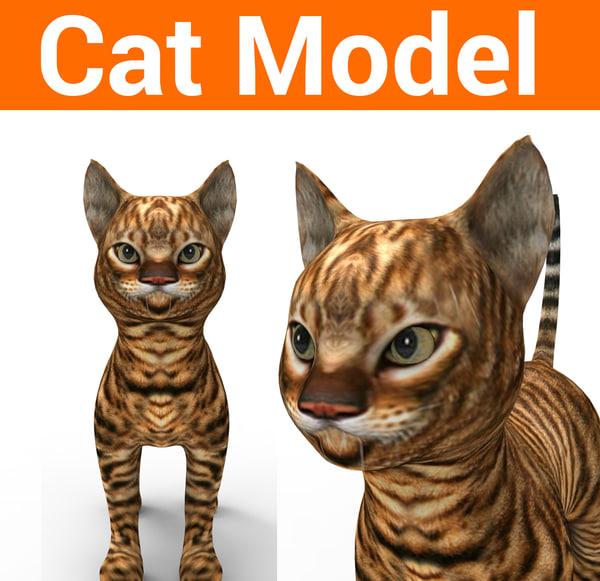 3D cute cat