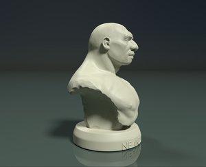 3D bust neanderthal