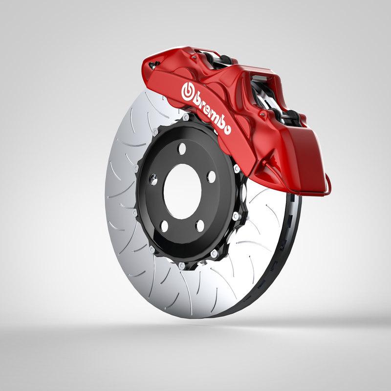 6-piston brembo brakes 3D
