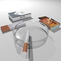 3D model pack cigarettes