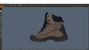 scanned boot 3D model