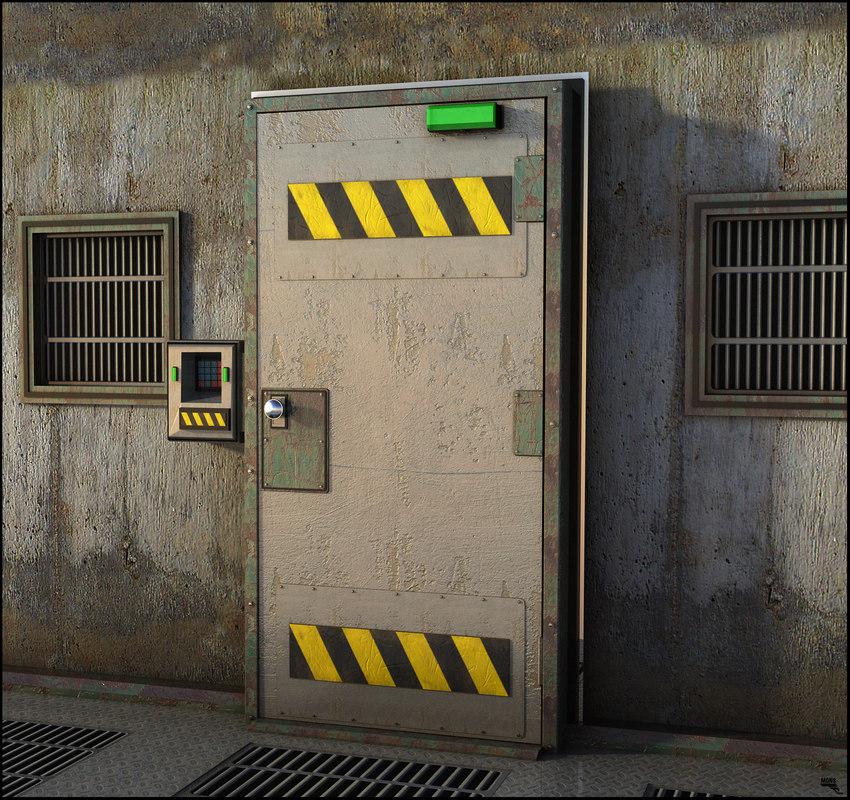 3D door security model