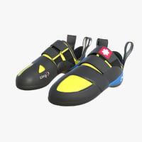 boulder climbing shoe 3D model