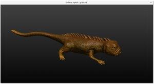 3D gecko model
