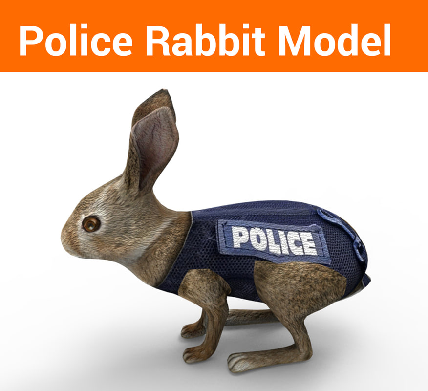 police rabbit 3D