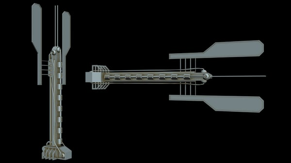 3D starship star
