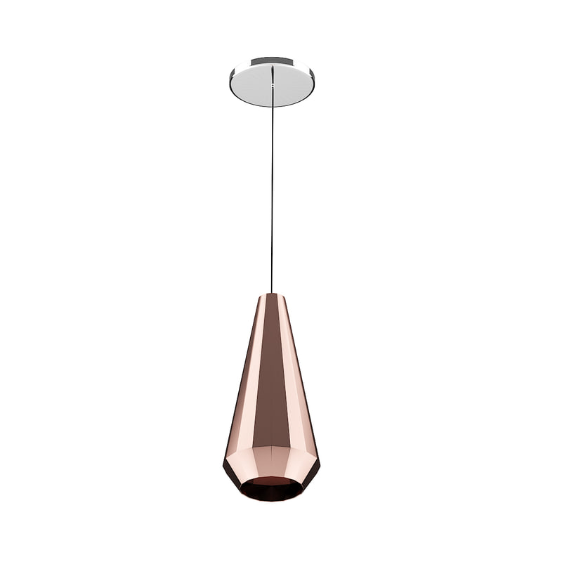 ceiling lamp copper shade 3D