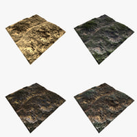 3D terrain file set 4 model