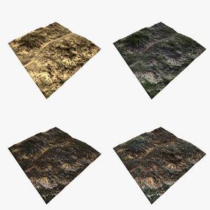 3D terrain file set 4 model