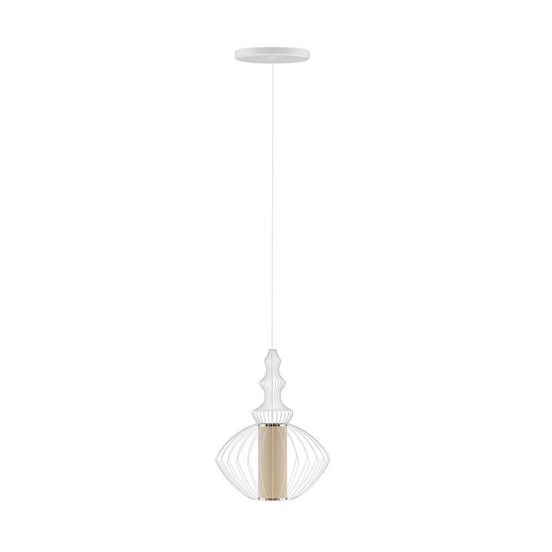 3D beige ceiling lamp wire