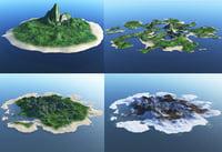 islands ocean 3D