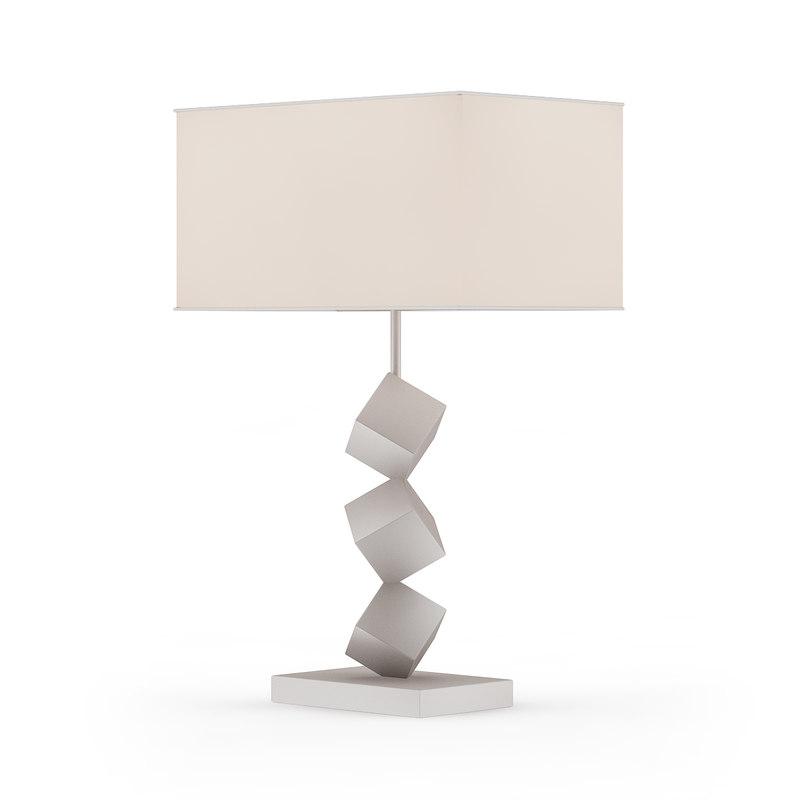 metal cubic desk lamp 3D model