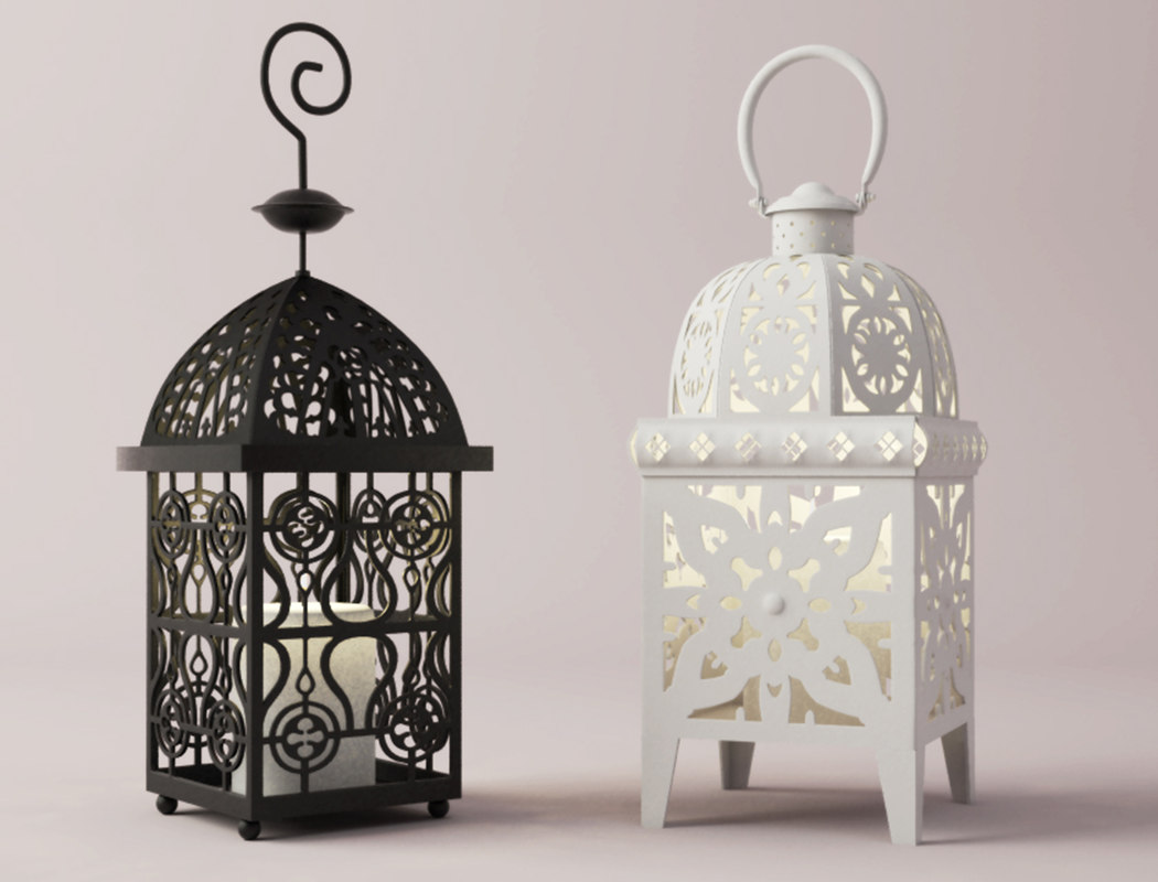 moroccan lanterns 3D model