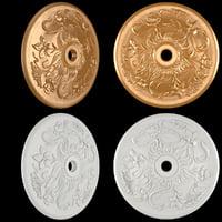 3D rosette gold