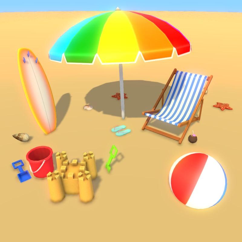 3D beach party fun
