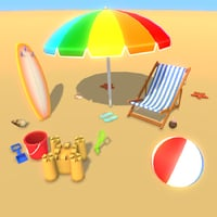 3D beach party fun