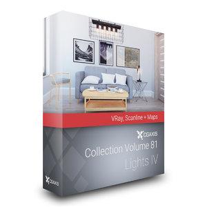 3D volume 81 lights iv model