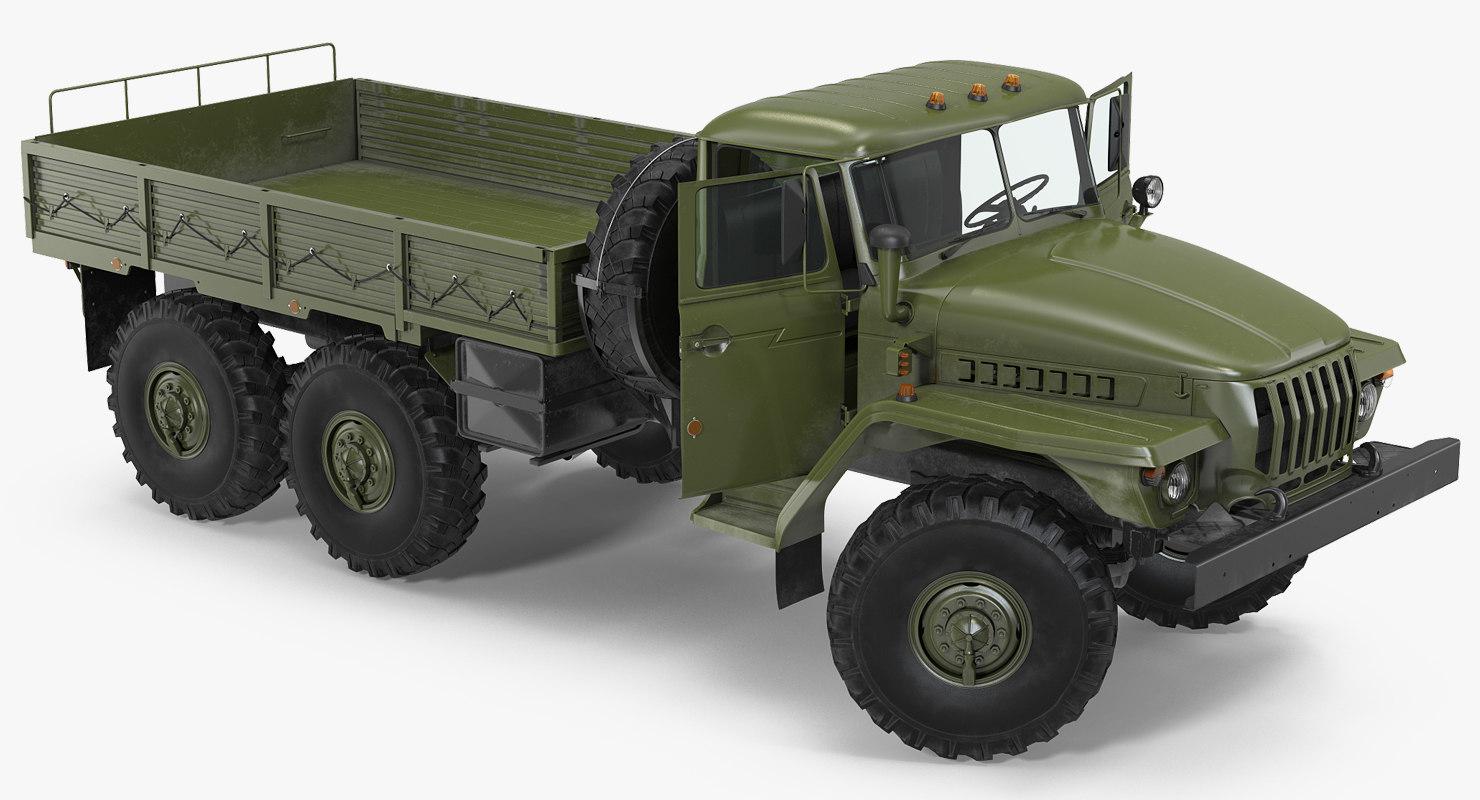 3D ural 4320 soviet cargo truck