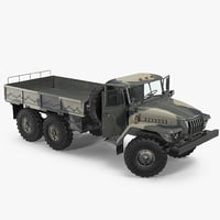 URAL 4320 Russian Cargo 6x6 Truck Rigged