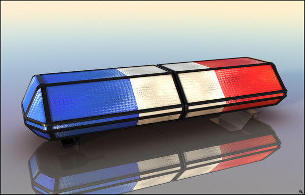 3D police siren