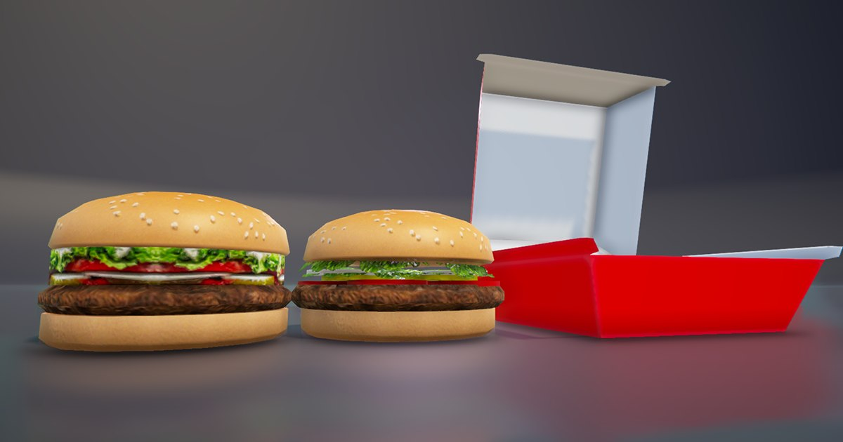 hamburger box 3D model