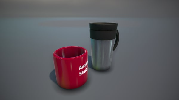 3D mug coffee travel model