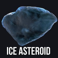 3D icy asteroid model