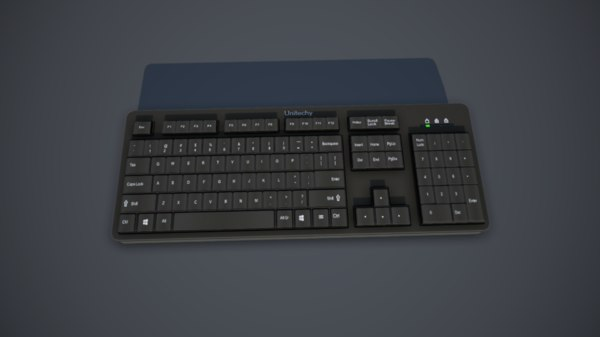 keyboard mouse 3D model