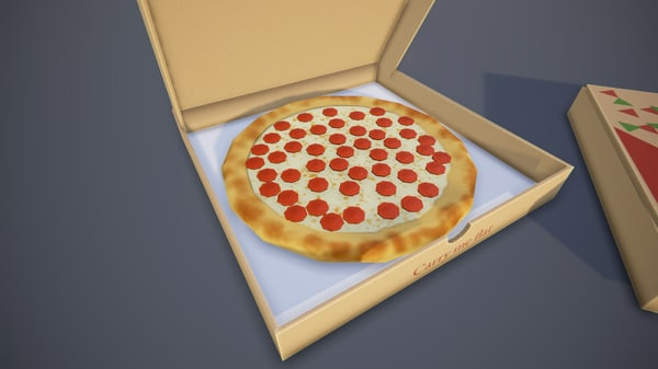 3D pizza box