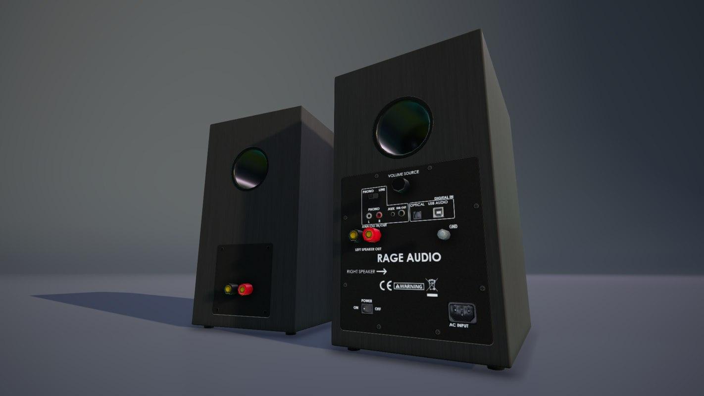 speakers klipsch unity 3D model