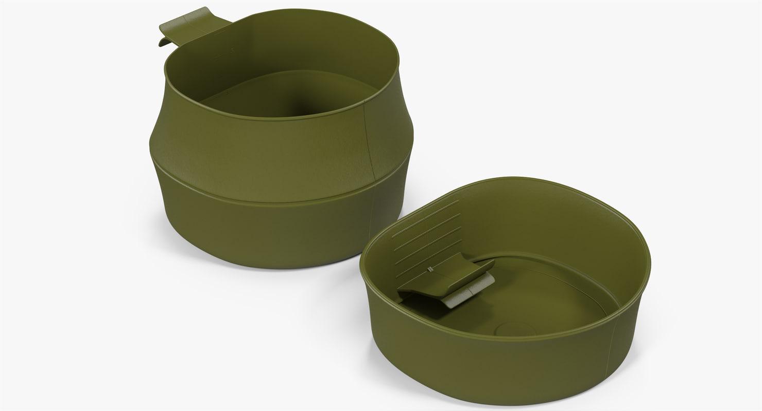 folding cup large - 3D model