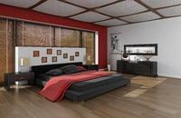 bed room modeled 3D model