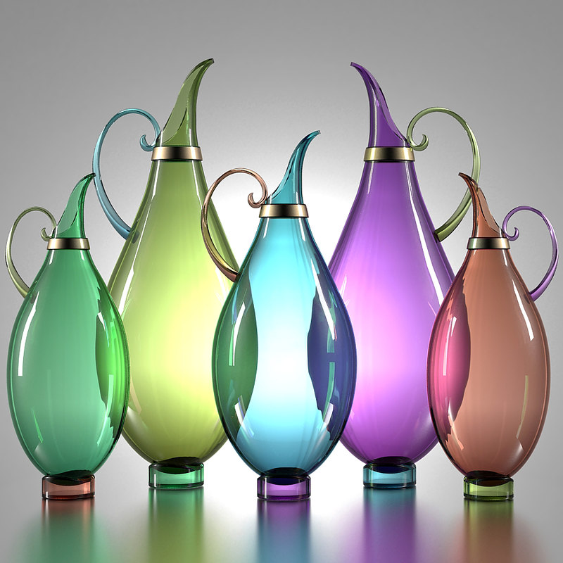 pitchers morocco glass 3D model
