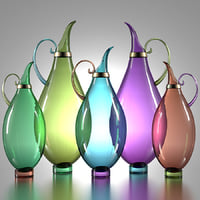 pitchers morocco glass 3D model