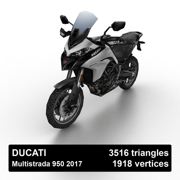 2017 ducati multistrada 950 3D model