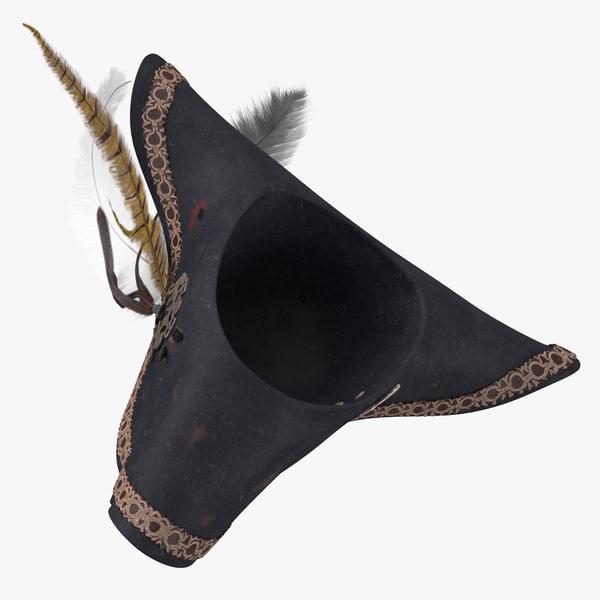 pirate hat 01 flipped 3D model