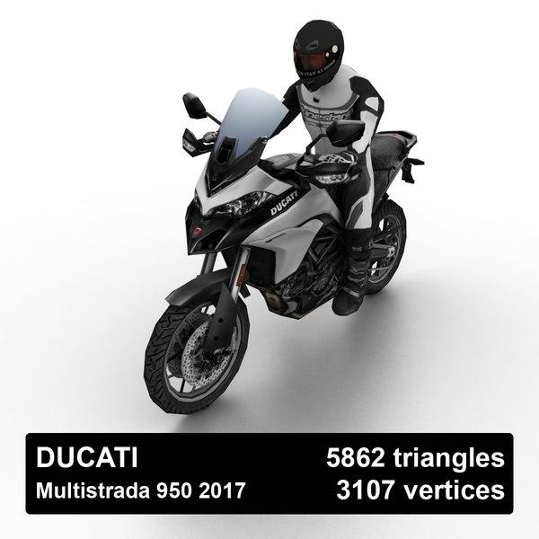 2017 ducati multistrada 950 3D