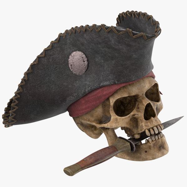 pirate skull 01 3D model