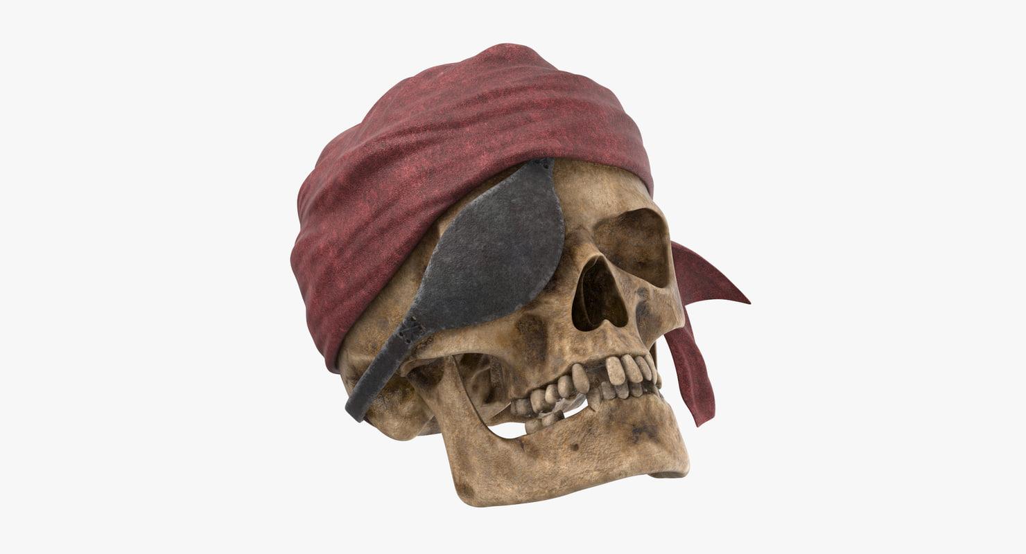 pirate skull 02 model